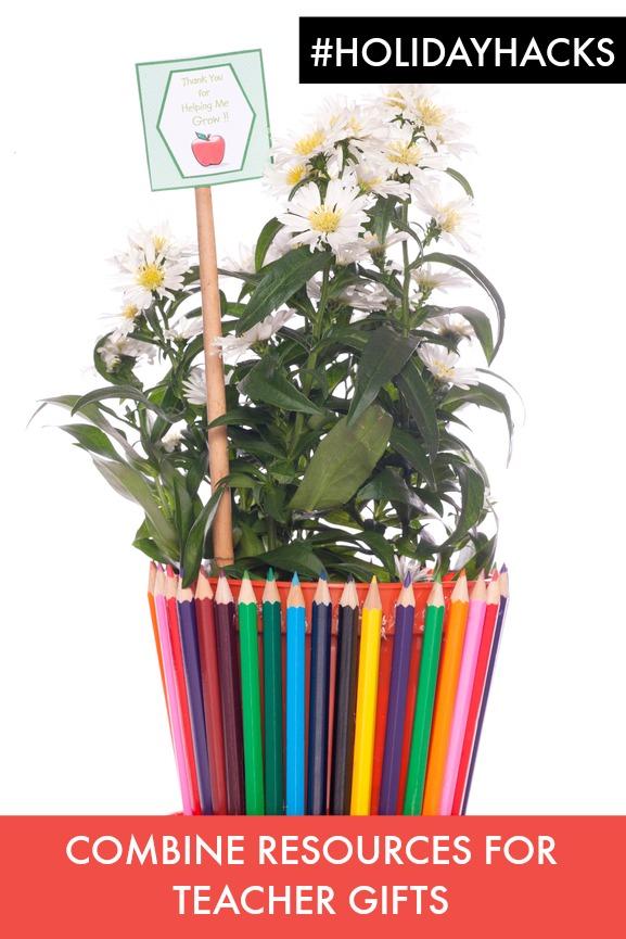 flowers for a teacher gift studio cutout